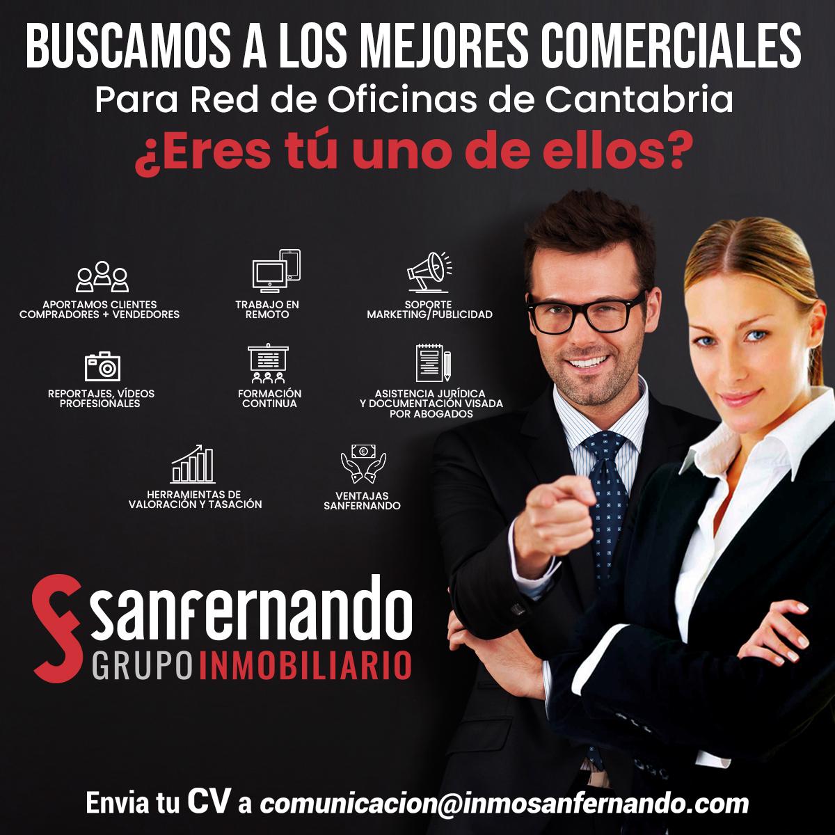 Oferta de empleo en Cantabria Inmobiliaria SanFernando